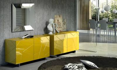 Custom Modern Italian Design sideboard SEGNO by Riflessi - made in Italy-lacquered-ral-range-sideboard-2-doors-segno-s2-riflessi-