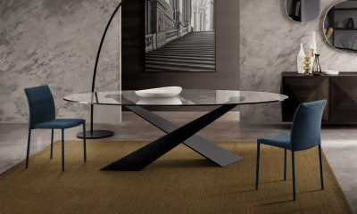 Limited Edition Italian Design dining table SHANGAI by Riflessi-04
