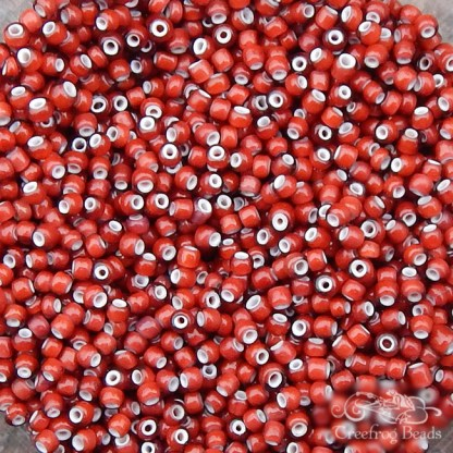 antique italian white heart beads