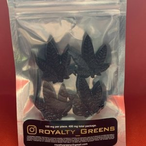 ROYALTY GREENS Blue Raspberry Shatter Infused Jollyrachers 400mg