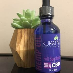 Kurativ Full Spectrum CBD Oil 3000mg Tincture