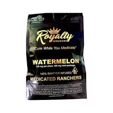 ROYALTY GREENS Watermelon Royalty Ranchers Shatter Infused 400mg