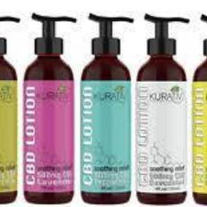 """""""New"""" Kurativ 500mg CBD soothing relief! Available in 5 scents in 4oz pump bottles!"""