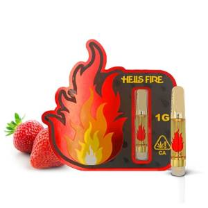 Hells Fire Extracts Strawberry Kush Cartridge