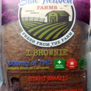 BLUE HEAVEN FARMS ORGANIC 1000MG BROWNIE