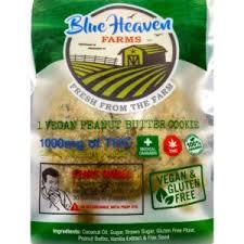 BLUE HEAVEN FARMS ORGANIC 1000MG VEGAN PEANUT BUTTER COOKIE