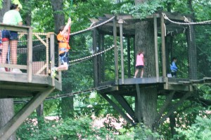 One of the First Kids to Ride the Buccaneer Zipline