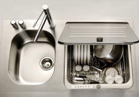 dishwasher is integrated into sink