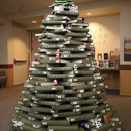 Make Your Next Christmas Tree Out Of Books