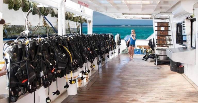 Enjoy our Cairns Liveaboard Volunteer Programme on Cairns Boutique Diving Liveaboard - a literal boutique floating hotel.