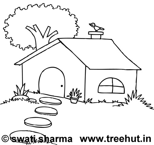 tree house colouring pages page 3