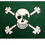 Blarney Bones 12″x18″ Pirate Flag
