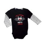 "Newborn Onesie: Black body suit ""I'm a Sucker for Pretty Ladies"""