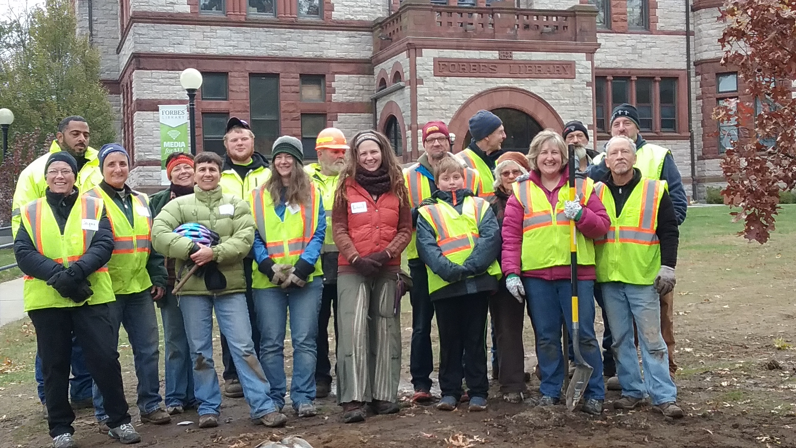Volunteers at the Forbes Library Planting in November