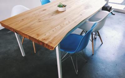 Elm Slab Dining Table