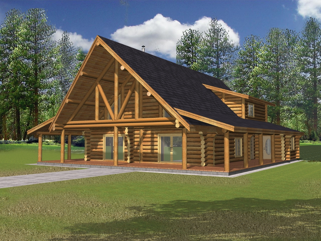 Rustic House Plans With Wrap Around Porches Rustic Log Home Plans Mountain Log Home