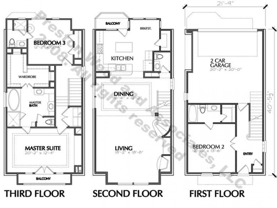 House Floor Plan Blueprint Simple One Floor House Plans