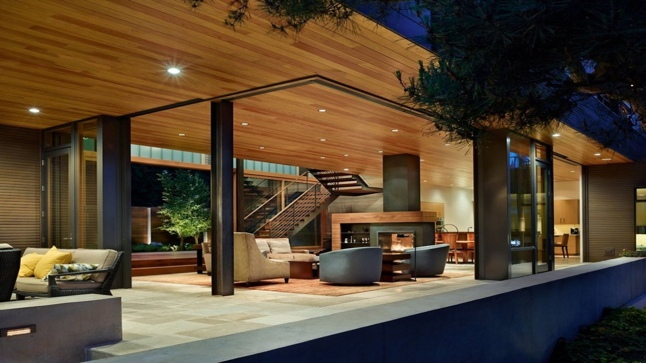House With Courtyard Design Modern House With Courtyard