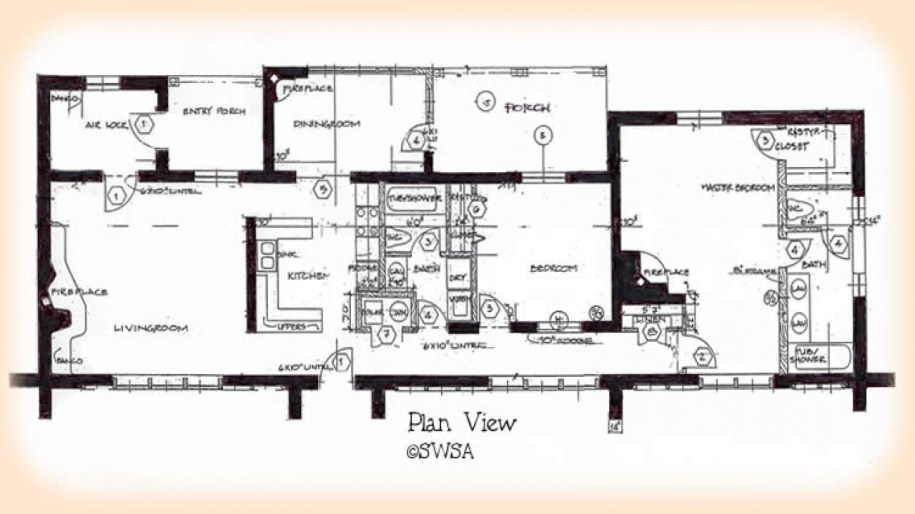 South West House Plans with Courtyard bedroom adobe house ...