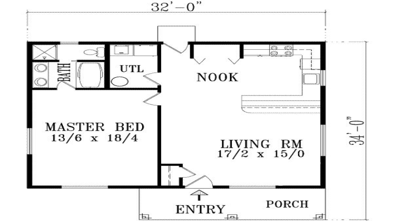 16x50 2 Bedroom Floor Plans