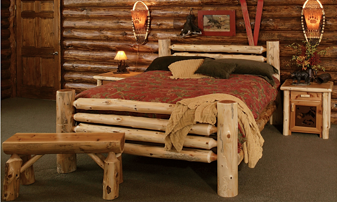 Rustic Style Bedroom Furniture Rustic Log Bedroom