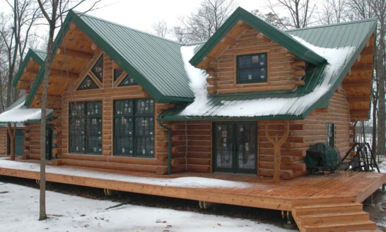 Log Cabin Modular Homes Log Cabin Home With Metal Roof