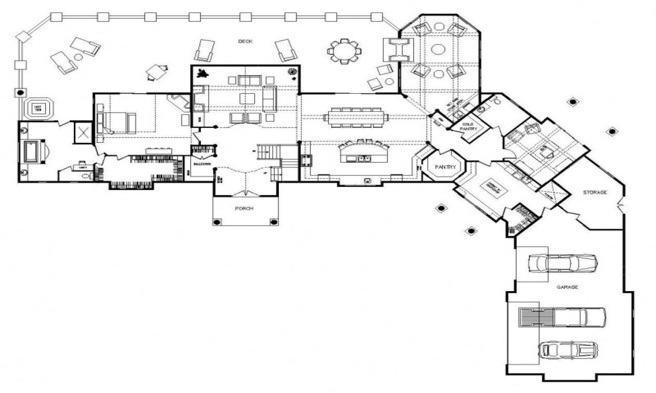 One Story Log Home Floor Plans Log Home Plans One Story