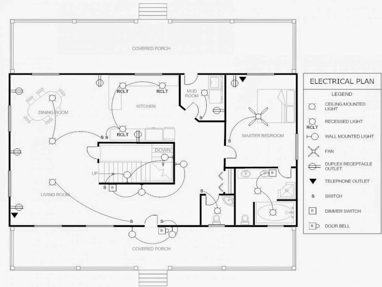 Electrical Plan Example Electrical Floor Plan Drawing