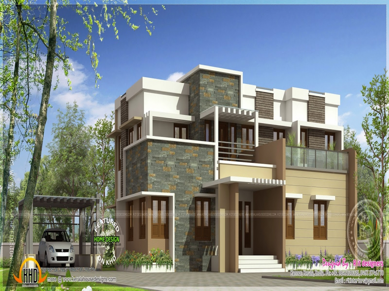 Flat roof modern house plans flat roof two story house, 20 x 38 house plans
