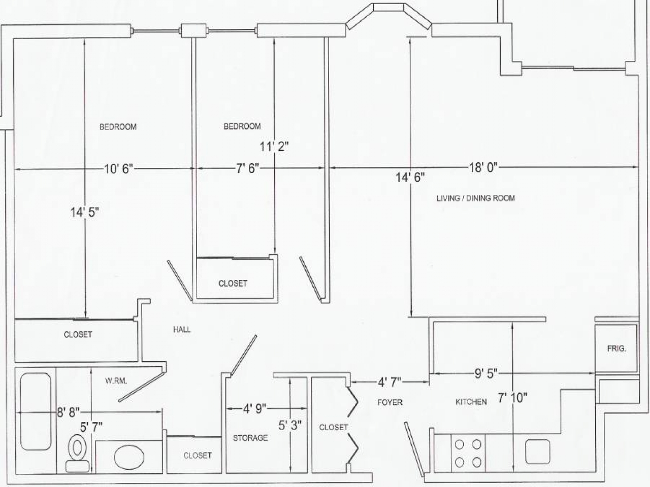 1 4 Scale Furniture Templates Printable Floor Plan