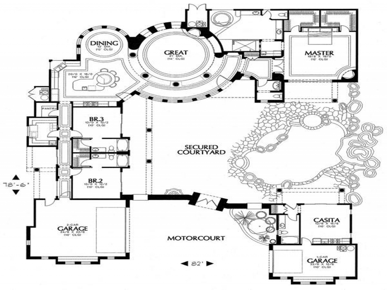 Spanish Courtyard House Plans Spanish House Plans With