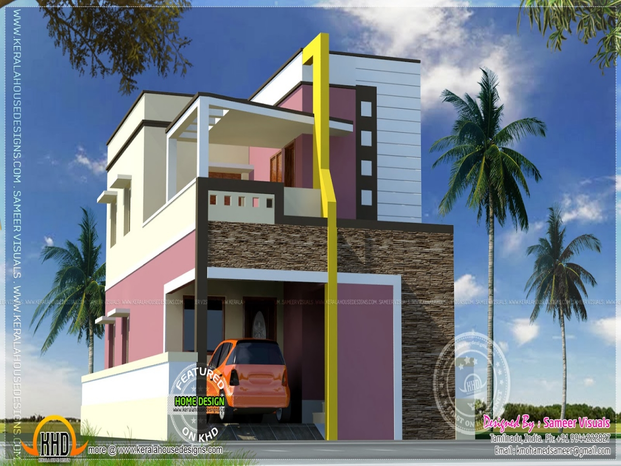 Modern Indian Home Design Small Modern House Indian