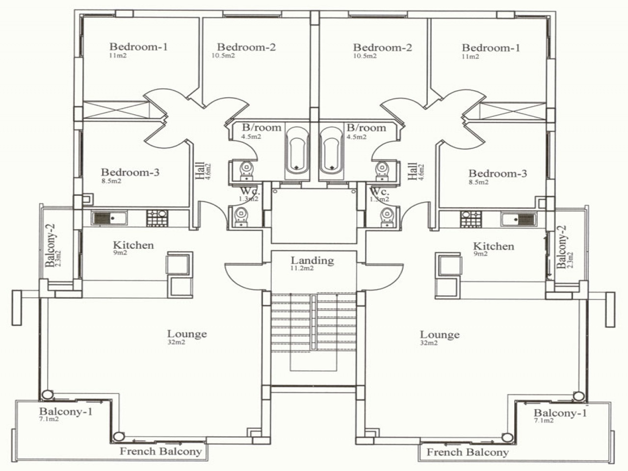 3 Bedroom House Floor Plans 3 Bedroom Section 8 Houses 5