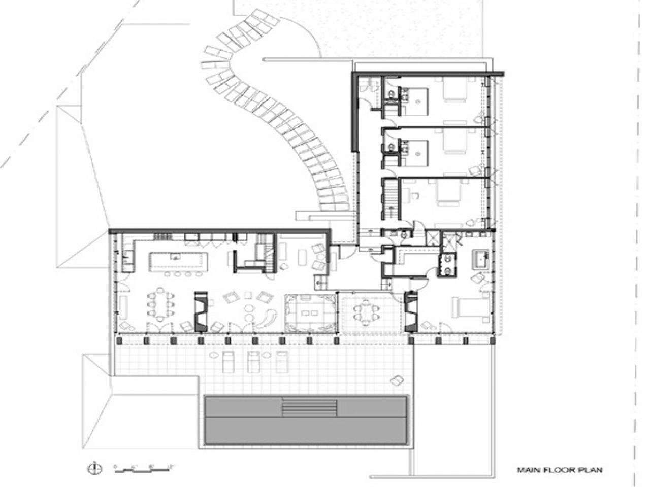 V Shaped House Plans Waterfront Waterfront House Plan Luxurious Waterfront House By Michael