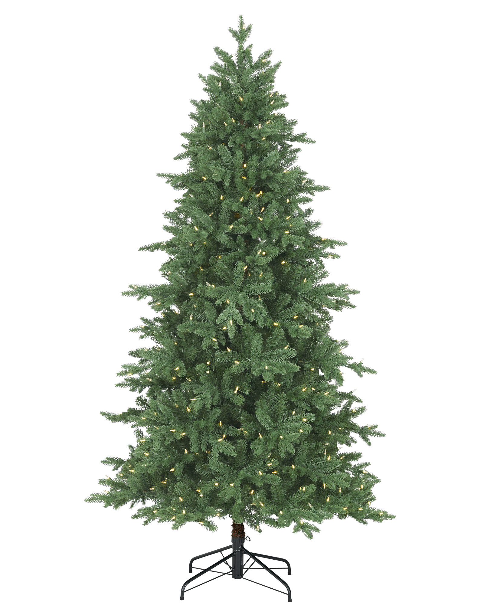 Pre Lit Mixed Balsam Pe And Pvc Artificial Christmas Trees