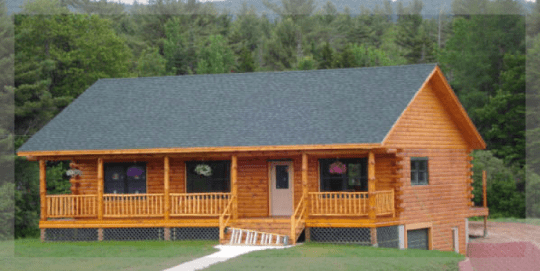 The Mohawk is a ranch style log home  Treetop log homes is a     The Mohawk is a ranch style log home  Treetop log homes is a Michigan  Builder