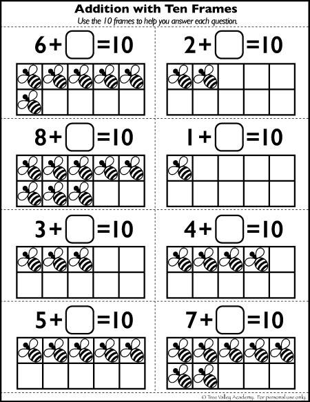 Free Number 10 Worksheets For Kindergarten Grade 1