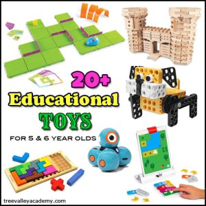 Gift Guide of Educational Toys for Kindergarten & Grade 1 students (5 & 6 year olds).