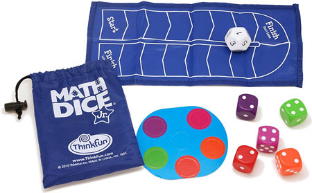 Math dice game - for practicing addition and subtraction up to 12.