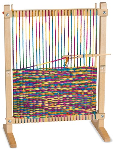Great gift idea for kids who love arts & crafts: multi-craft weaving loom.