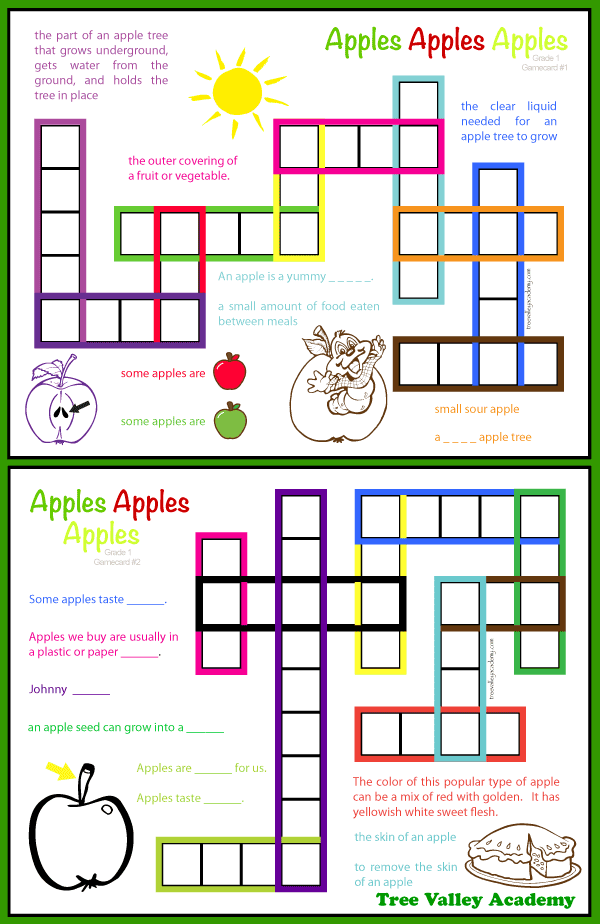 Apple Theme Spelling Activities For Grade 1