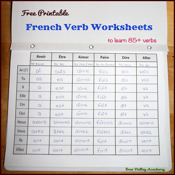 french verb worksheets. Black Bedroom Furniture Sets. Home Design Ideas