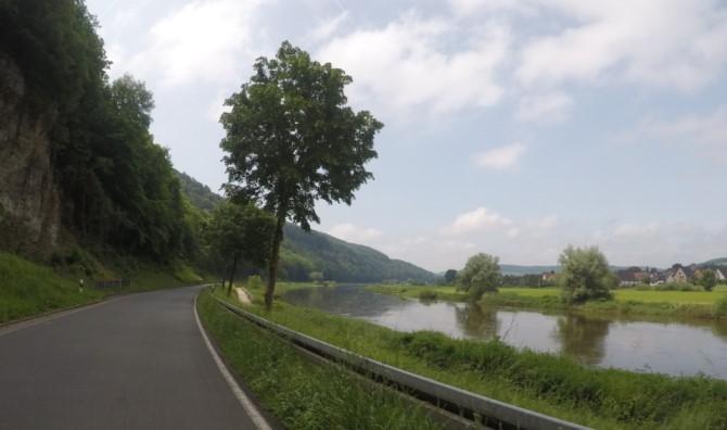 Blick auf die Weser vor Reileitzen