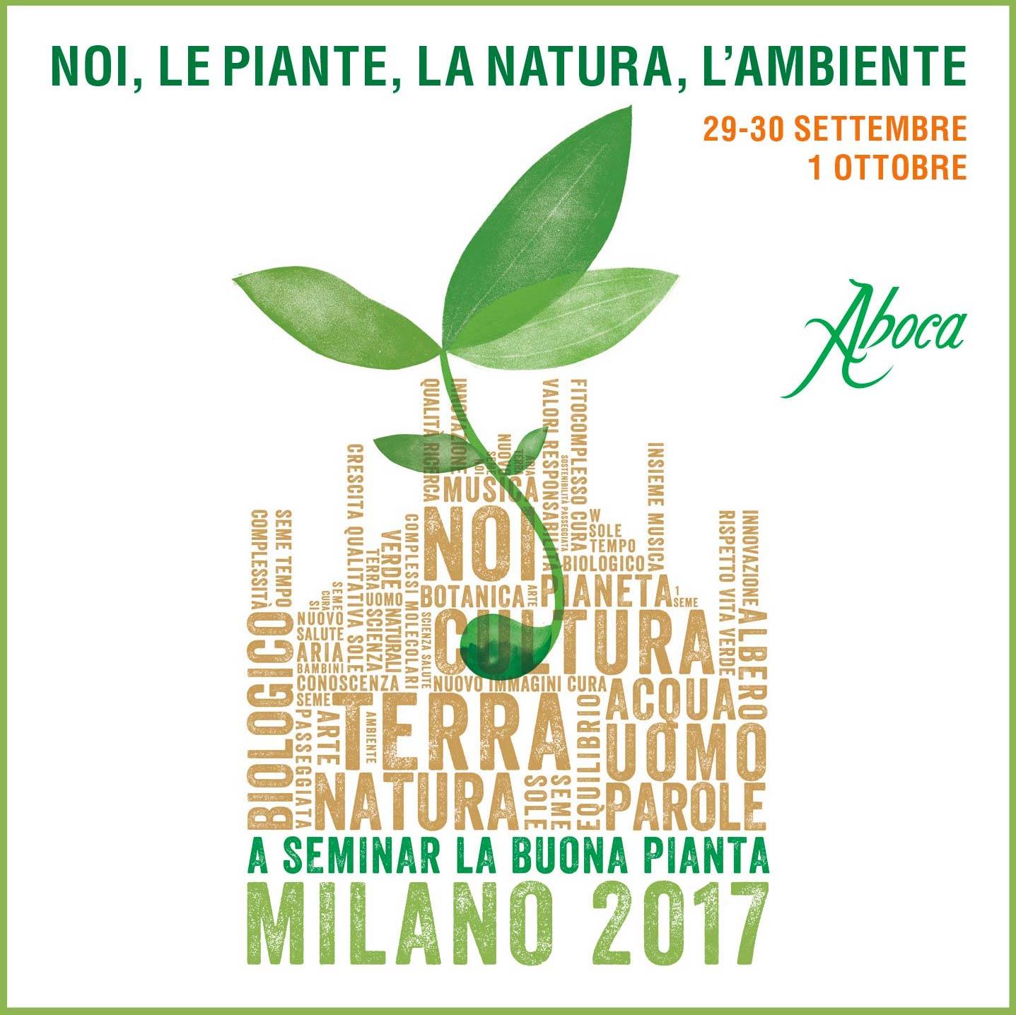 A seminar la buona pianta-29 settembre 1 ottobre Milano
