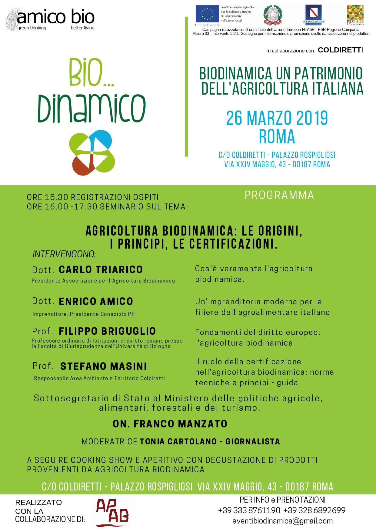Biodinamica un patrimonio dell'agricoltura italiana.