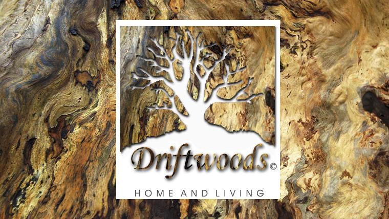 Hintergrund Holz mit Driftwoods Logo