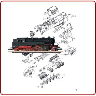 Stoom locomotief onderdelen
