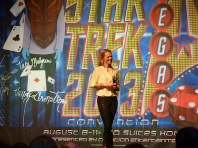 Jeri Ryan no palco