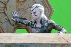 """*EXCLUSIVE* Chris Pine, Simon Pegg, Sofia Boutella and Anton Yelchin film on a spaceship on the set of  """"Star Trek Beyond"""""""
