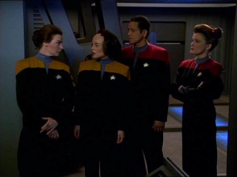 Seska, B'Elanna, Chakotay e Janeway